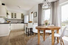 Stół okrągły MODERN SLIM - rozkładany, ręcznie wykonany z prawdziwego drewna dębowego