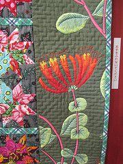 border detail of Asian Flowers ~ quilt by Hiroko Ninagawa