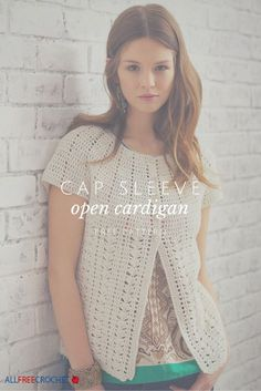 Crochet cardigan pattern - I love this one because it's great for layering.