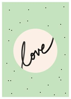 Free printable-Mint-love-typography-print-by-inkstruck