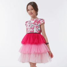 ROCHIE CU VOLANE DIN TUL ROZ IN DEGRADE Special Occasion, Girls Dresses, Skirts, Outfits, Fashion, Dresses Of Girls, Moda, Suits, Skirt