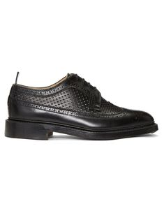 THOM BROWNE Black Perforated Classic Longwing Brogues · VERGLE
