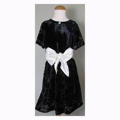 Girls Black Velvet Party Dress & Hair Band Age 7 Bellissima   Etsy Little Girl Dresses, Girls Dresses, Formal Dresses, Beautiful Party Dresses, Velvet Shorts, Star Girl, Silk Wool, Black Feathers, Looking Gorgeous