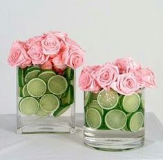 Pink roses & Limes