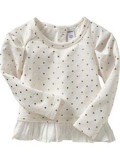 Printed Peplum-Hem Sweatshirts for Baby | Old Navy  annnd this @Kelly Monnin
