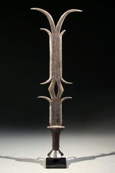 Africa | Byongi Parade Sword. Ekonda peoples, D.R. Congo | Wrought iron, wood | First half 20th century