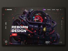 Reborn-design team designed by Bad Taste. for Reborn Design. Connect with them on Dribbble; Web Design Trends, Ux Design, Site Web Design, Creative Web Design, Page Design, Layout Design, Website Design Inspiration, Graphic Design Inspiration, Responsive Layout