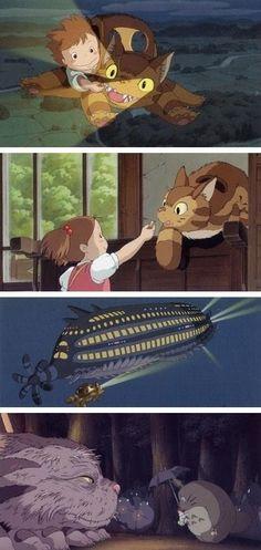 Mei and the kitten bus, cortometraje continuación de Mi vecino Totoro. Por lo visto solamente se puede ver en el Museo Ghibli en Japón. Habrá que ir a Japón.
