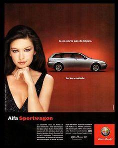 Alfa Romeo Sportwagon 2000 French Text Catherine Zeta-Jones Photo Illustrated AD