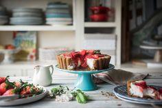 Tarta de fresas y yogur- Strawberry tart - Because blog