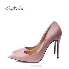 Christian Louboutin souft shoes Sexy Hot pink Pumps Red Sole Shoes Pointed  Toe High Heels For