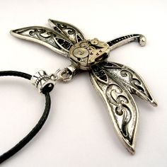 Halloween Dragonfly Pendant 2 Steampunk Dragonfly by SteamSect, $32.00