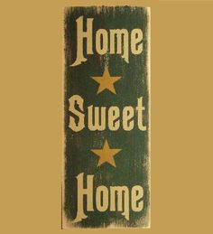 Home Sweet Home Wood Sign - buy on Lights in the Northern Sky www.lightsinthenorthernsky.com