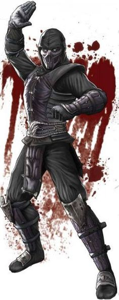 Noob Saibot, he is one of my favorite characters. The orginal sub-zero, bi-han and his younger brother, kaui lang, were taken by the lin keui as children. When sub-zero ( Bi-han) was defeated by Scorpion, Quan Chi ressurected him and he became Noob Saibot.
