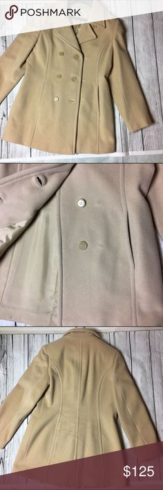 🆕Off white pea coat 💕 Beautiful off white/cream  pea coat. A must for this winter season. Made out of 70% wool, 20% nylon, 10% cashmere materials. The interior lining is made out of 100% polyester materials. Keeps you very warm while looking stylish. Has two usable front pockets. Marvin Richards  Jackets & Coats Pea Coats