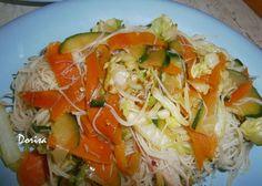 Fotorecept: Ryžové rezance so zeleninou Spaghetti, Ethnic Recipes, Food, Essen, Meals, Yemek, Noodle, Eten