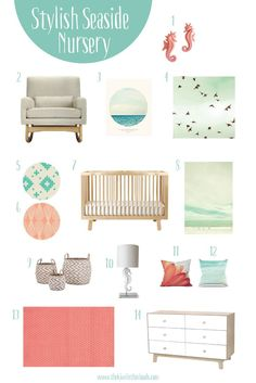 Beach themed nursery decor