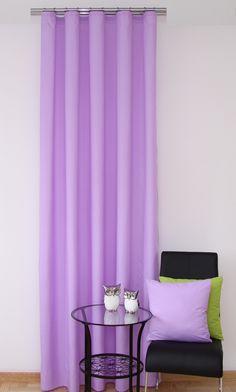 Gotowa zasłona na okna gładka w kolorze wrzosowym