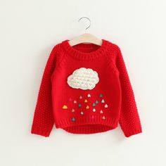 >> Click to Buy << 2017 spring and autumn rain clouds of new children's clothing wholesale girls children sweater cardigan sweater Pullover #Affiliate