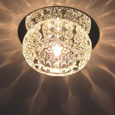 LightInTheBox 793773 20 Watts G4 Incandescent Contemporary Crystal Mini Style Flush Mount for Living Room Bedroom Dining Room  Kitchen >>> Read more reviews of the product by visiting the link on the image.