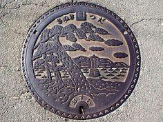 Tsuda Kagawa, manhole cover (香川県津田町のマンホール) by MRSY, via Flickr