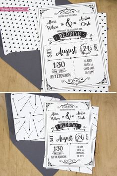 Wedding Invitation Template Printable Set, Wedding Invitation Suite, with envelope insert wth arrows and hearts Country Wedding Invitations, Rustic Invitations, Printable Wedding Invitations, Wedding Invitation Templates, Event Invitations, Shower Invitations, Wedding Stationery, Wedding Matches, Diy Wedding