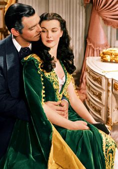 Gone with the Wind - The sheer scale of 1939's Gone With The Wind was reflected in the 19th century outfits - over 5,000 individal items of clothing were crated by the film's costume designer, Walter Plunkett. FACT: The memorable green dress pictured was made from a pair of old curtains in the film - Scarlett wanted to look perfect for Rhett Butler's return, and show she could still look elegant despite the hardships of the Civil War.