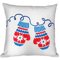 Mittens DIY ACCENT PILLOW STENCIL KIT. Buy it here for only $44.95  http://www.cuttingedgestencils.com/mittens-holiday-accent-pillows-diy-throw-pillow-kits.html?utm_source=JCG&utm_medium=Pinterest&utm_campaign=Mittens%20DIY%20ACCENT%20PILLOW%20STENCIL%20KIT%20
