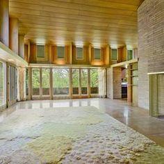 Louis B. Frederick house. 1958. Barrington Hills, Illinois. Usonian. Frank Lloyd Wright