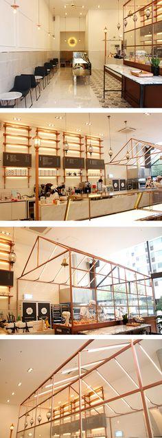 [No.247 타르타르 일산점] 30평 고급 모던 타르트 전문점 인테리어, 대리석, 공간 브랜딩, 웨인스코팅 tarte store interior
