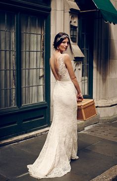 Yasmin Gown and Pia Crystal Bracelet   Come Away With Me: BHLDN's Late Fall 2014 Collection