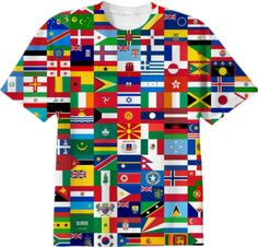 FLAGS OF THE WORLD by MASON MIGUEL on Print All Over Me. #paomtee #paomconceptual
