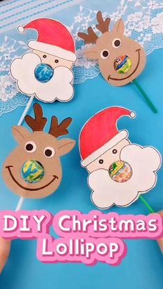 Christmas Card Crafts, Holiday Crafts, Holiday Fun, Simple Christmas, Kids Christmas, Reindeer Christmas, Cadeau Client, Daycare Crafts, Kids Daycare