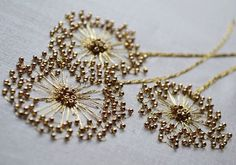 lovely--Etincelle Creative STUDIO: Course at Lesage in Paris - Salvabrani Bead embroidery stitches add sparkle to the ordinary – Artofit Learn the couture embellishment technique of tambour beading with world-renown experts, Hand and Lock, the company w Tambour Beading, Tambour Embroidery, Bead Embroidery Patterns, Couture Embroidery, Hand Embroidery Stitches, Embroidery Fashion, Embroidery Jewelry, Silk Ribbon Embroidery, Hand Embroidery Designs