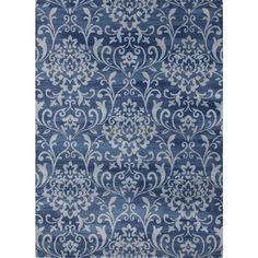 Persian Rugs Floral Design with Tones of Blue Area Rug (7'10 x 10'2)   $175