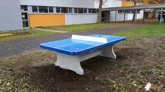 Pingpongtafel Afgerond Blauw bij Eppsteinschule in Hanau