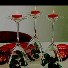 Awesome idea for Christmas dinner centerpiece
