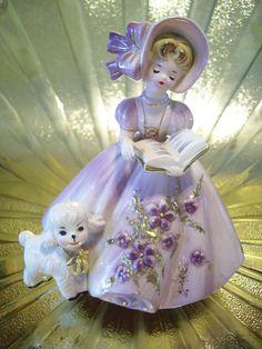 "Vintage Josef Originals ""Mary Had a Little Lamb"" Music Box - Just Gorgeous."