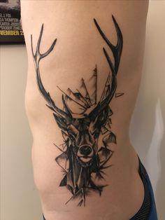 Tattoo rib deer tattoos men black