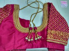 TBG Bridal Store is the first choice of all the South Indian Brides when it comes to anything related to the wedding. Best Blouse Designs, Wedding Saree Blouse Designs, Pattu Saree Blouse Designs, Simple Blouse Designs, Stylish Blouse Design, Choli Designs, Sari Blouse, Saree Dress, Hand Work Blouse Design