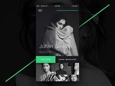 DailyUi #006 – User Profile