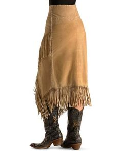 Suede Fringe Skirt, Leather Fringe, Leather And Lace, Suede Leather, Leather Skirt, Leather Jacket, Native American Clothing, American Fashion, Cheap Skirts