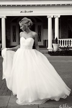 Oh good gravy. With a pair of boots and an elegant accent color, this will be the wedding dress of my dreams.