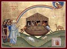 Noah's Ark Orthodox Icon Religious Images, Religious Icons, Spiritual Images, Religious Art, Byzantine Icons, Byzantine Art, Romanesque Art, Christian Artwork, Orthodox Christianity