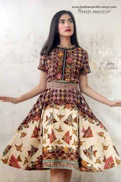 b592da3c3 Batik Amarillis Made in Indonesia proudly presents: Batik Amarillis's Rive  Gauche dress