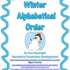 Winter ABC order.