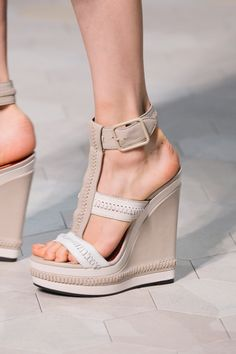 Nude sandal wedges.