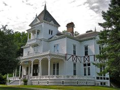 . Laurel Hall, designed by architect G.B. Croff of New York City, is a Queen Anne style mansion with Stick and Eastlake style influence