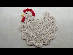 Who Says Potholders Can't Be Fun? Learn How To Crochet This Chicken Hot Pad! – Crafty House
