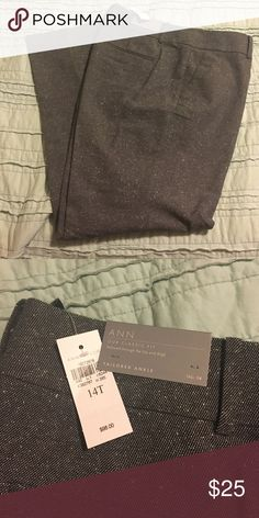 Ann Taylor Ann Fit tailored ankle pant 14Tall Bought online final sale and they didn't fit. Only tried on, tags on and in mint condition. Tall length! Ann Taylor Pants Ankle & Cropped